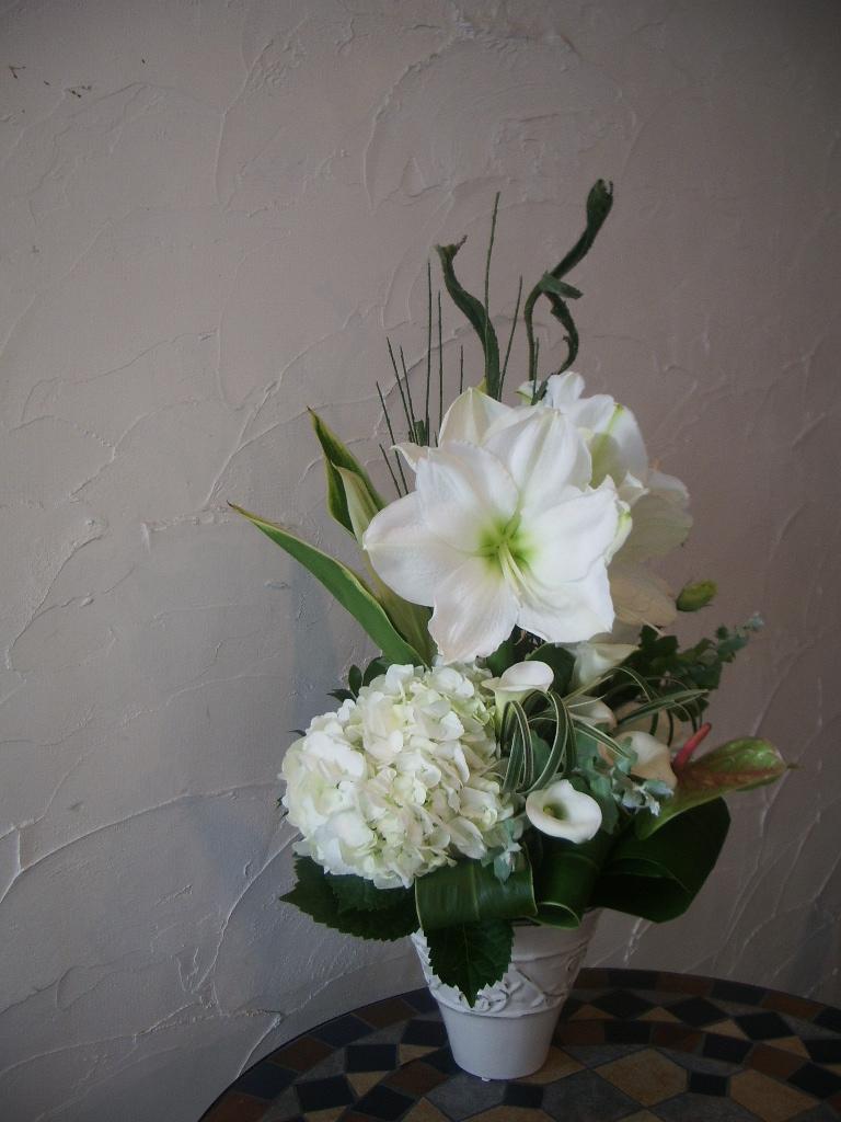 Composition florale n 1 akiko usami for Amaryllis fleuriste