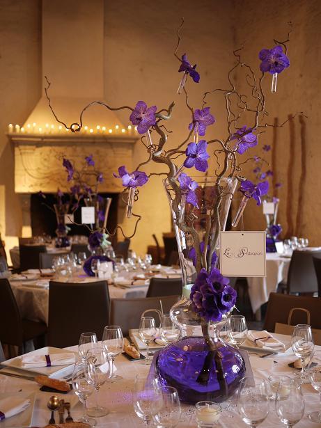 Decoration Florale Orchidee : Composition florale mariage domaine de quincampoix akiko