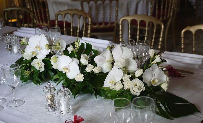 Decoration Florale Orchidee : Composition florale mariage à la maison de l amérique