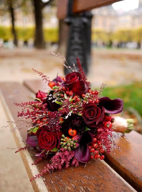 rose, arums, scabieuse,