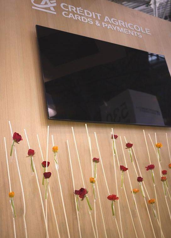 Composition florale d coration florale du stand cr dit agricole salon cartes - Salon deco villepinte ...