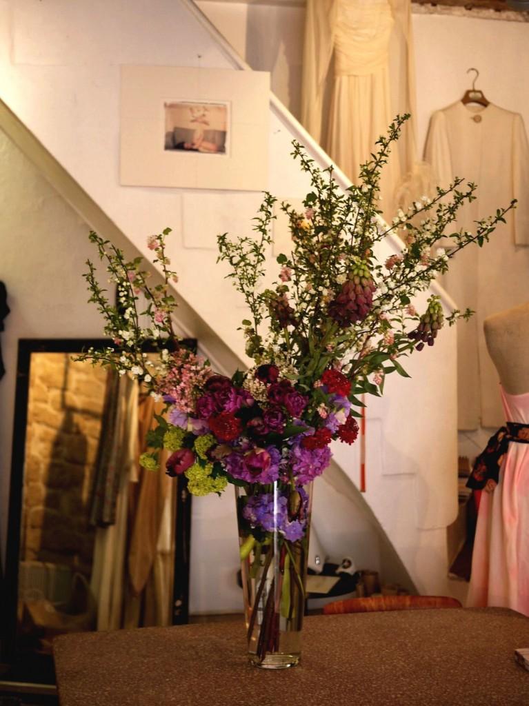 hortensia, pois de senteur, renoncule, scabieuse, tulipe