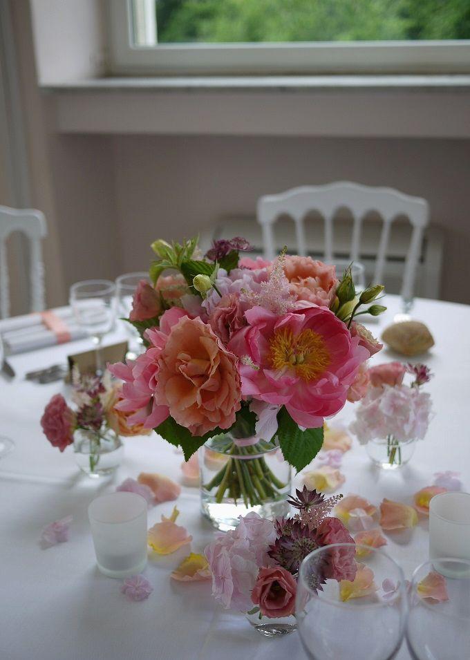 Composition florale mariage au ch teau des clos bonnelles akiko usami - Comment faire des boutures d hortensia ...