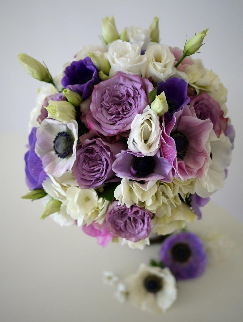 anémone, rose, lisianthus, hortensia,
