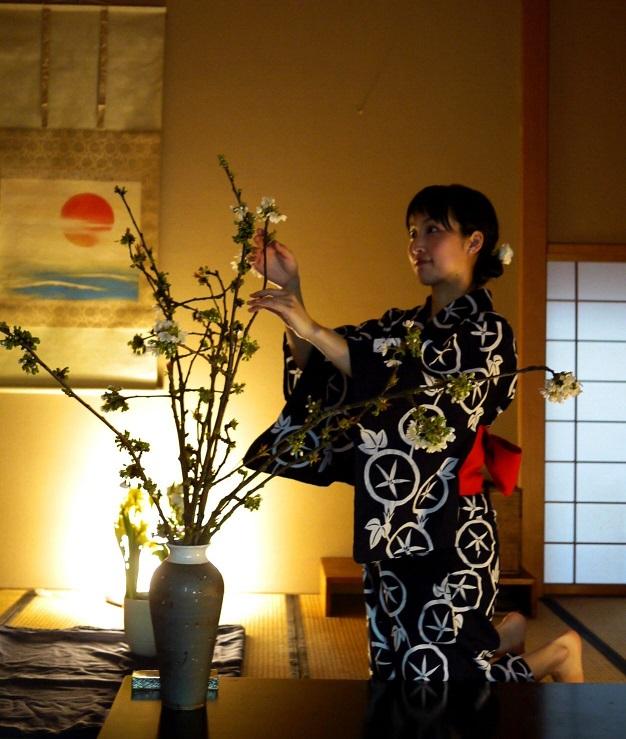 démonstration Ikebana