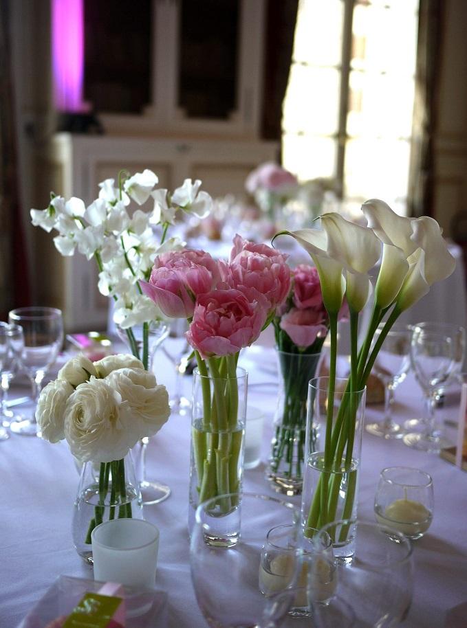 renoncule, pois de senteur, calla, tulipe, lisianthus,