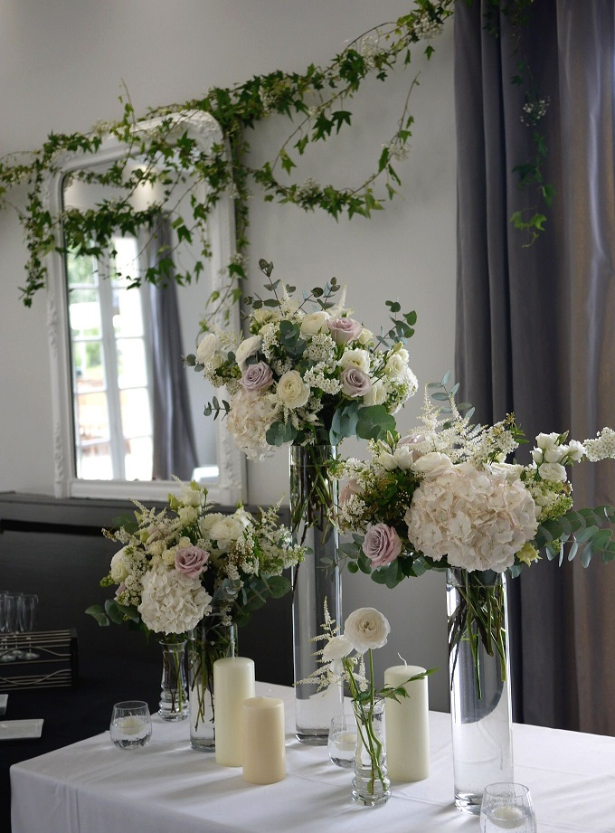renoncule, rose, lilas, hortensia, lisianthus, astilbe,