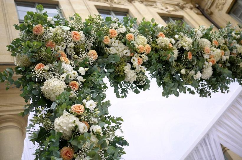 rose, hortensia, lisianthus, gypsophile,