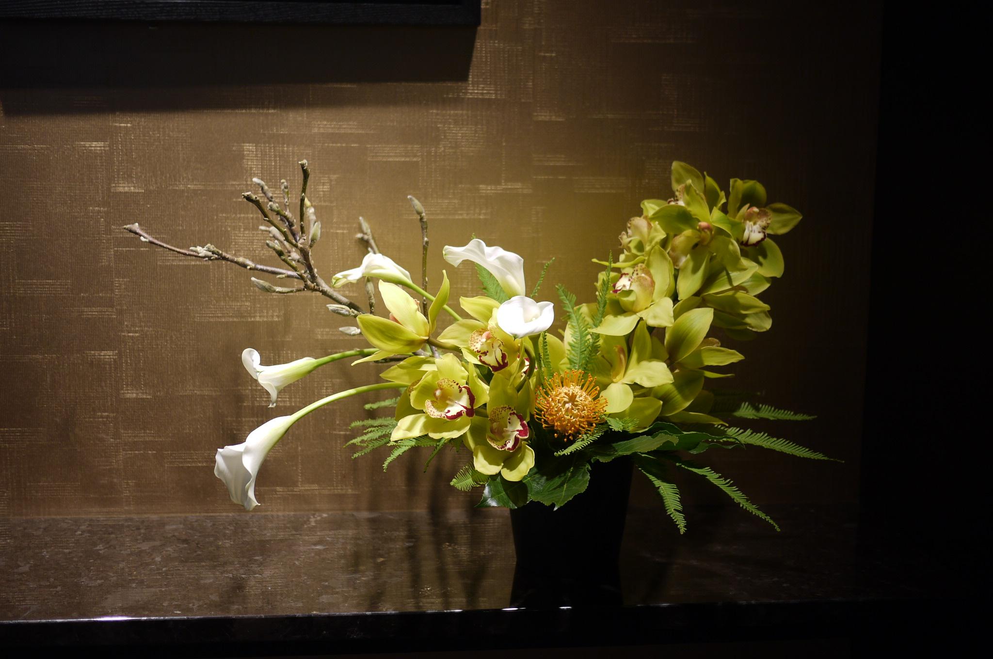 cymbidium, calla, hortensia,