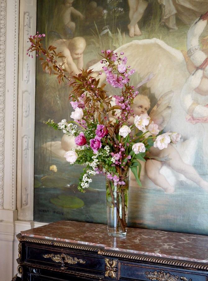 tulipe, anémone, renoncule, spirée, cerisier,