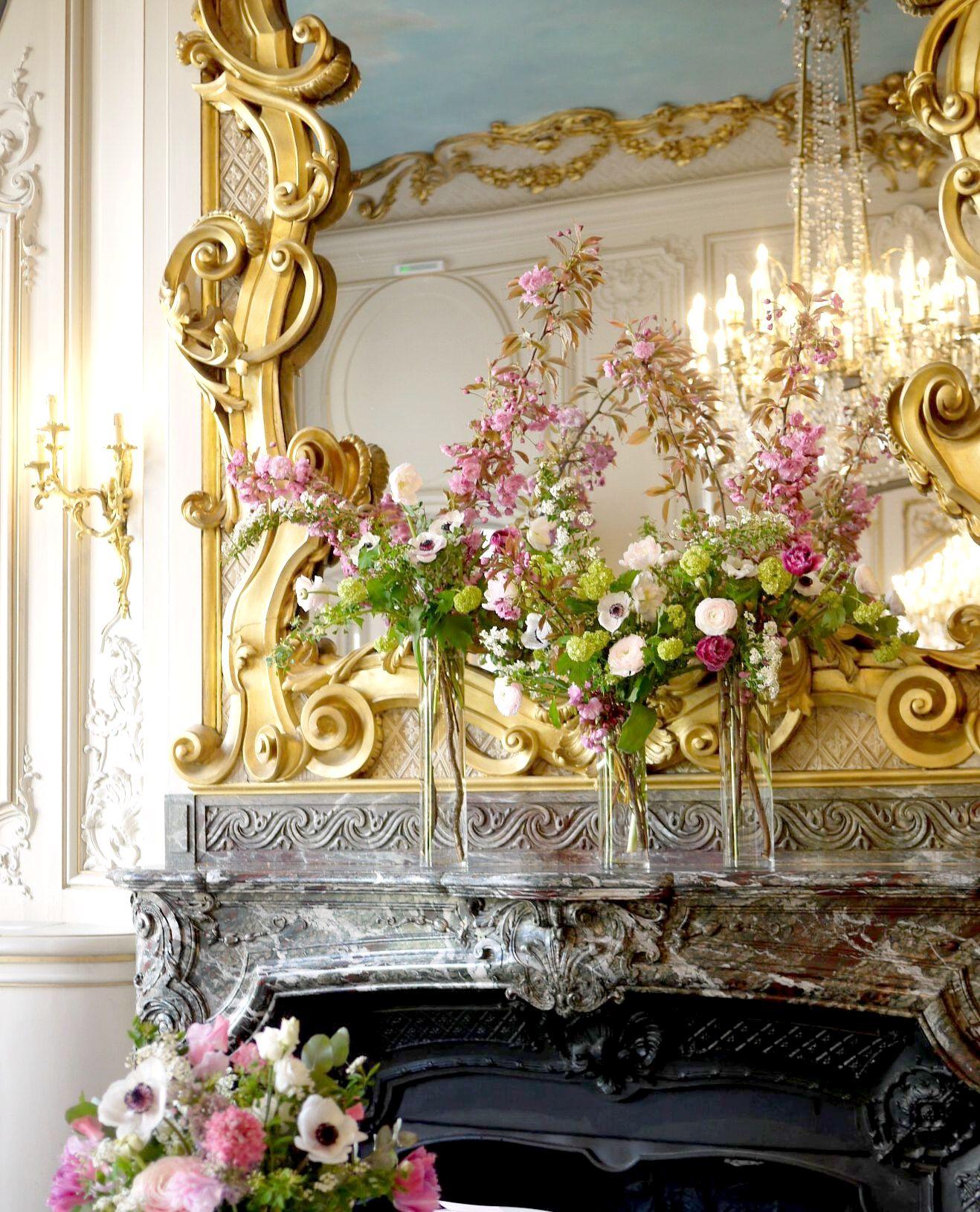 anémone, renoncule, spirée, pois de senteur, tulipe, scabieuse, viburnum, cerisier,