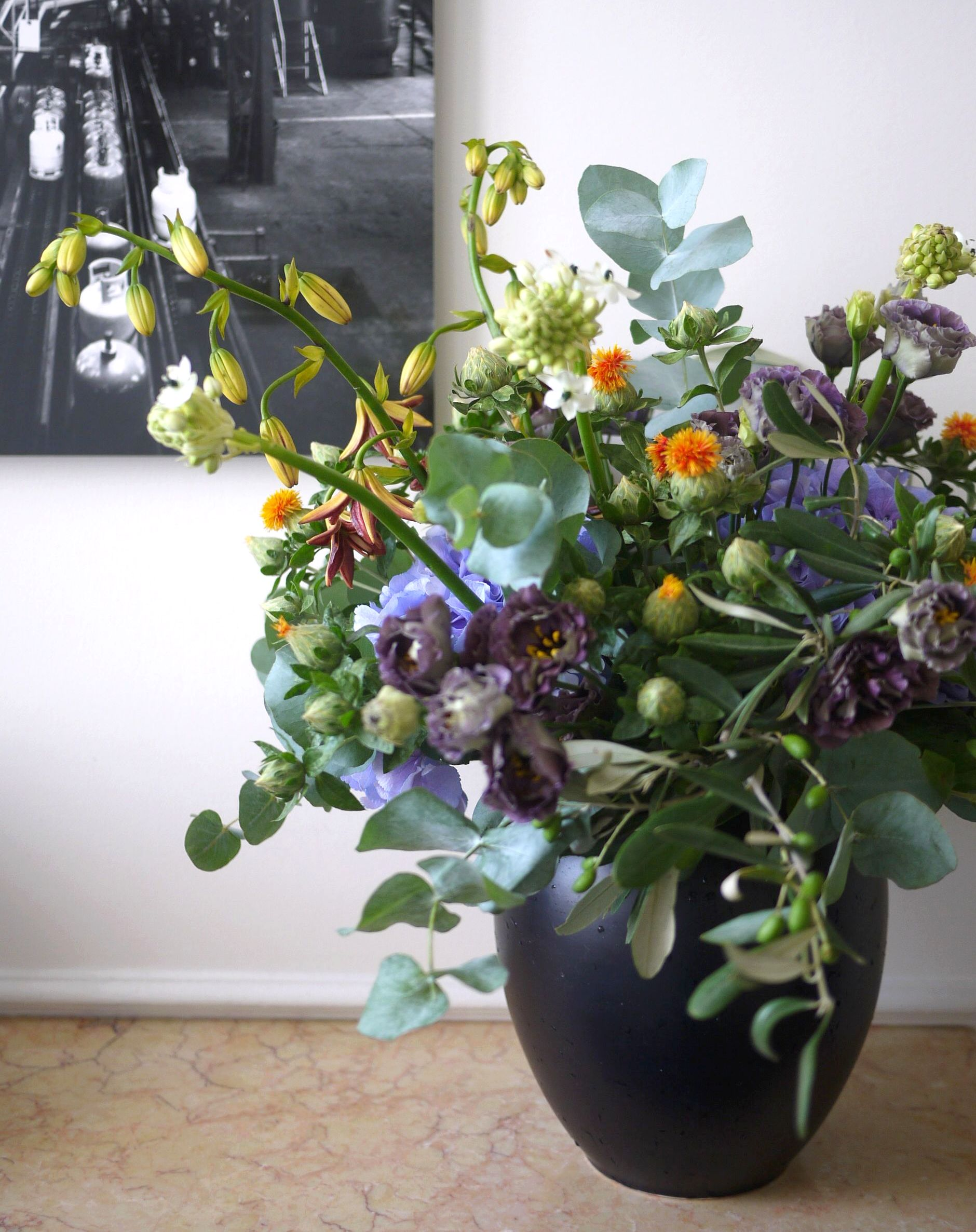 hortensia, lys, lisianthus,