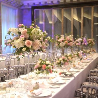 centre de table mariage The Peninsula Paris