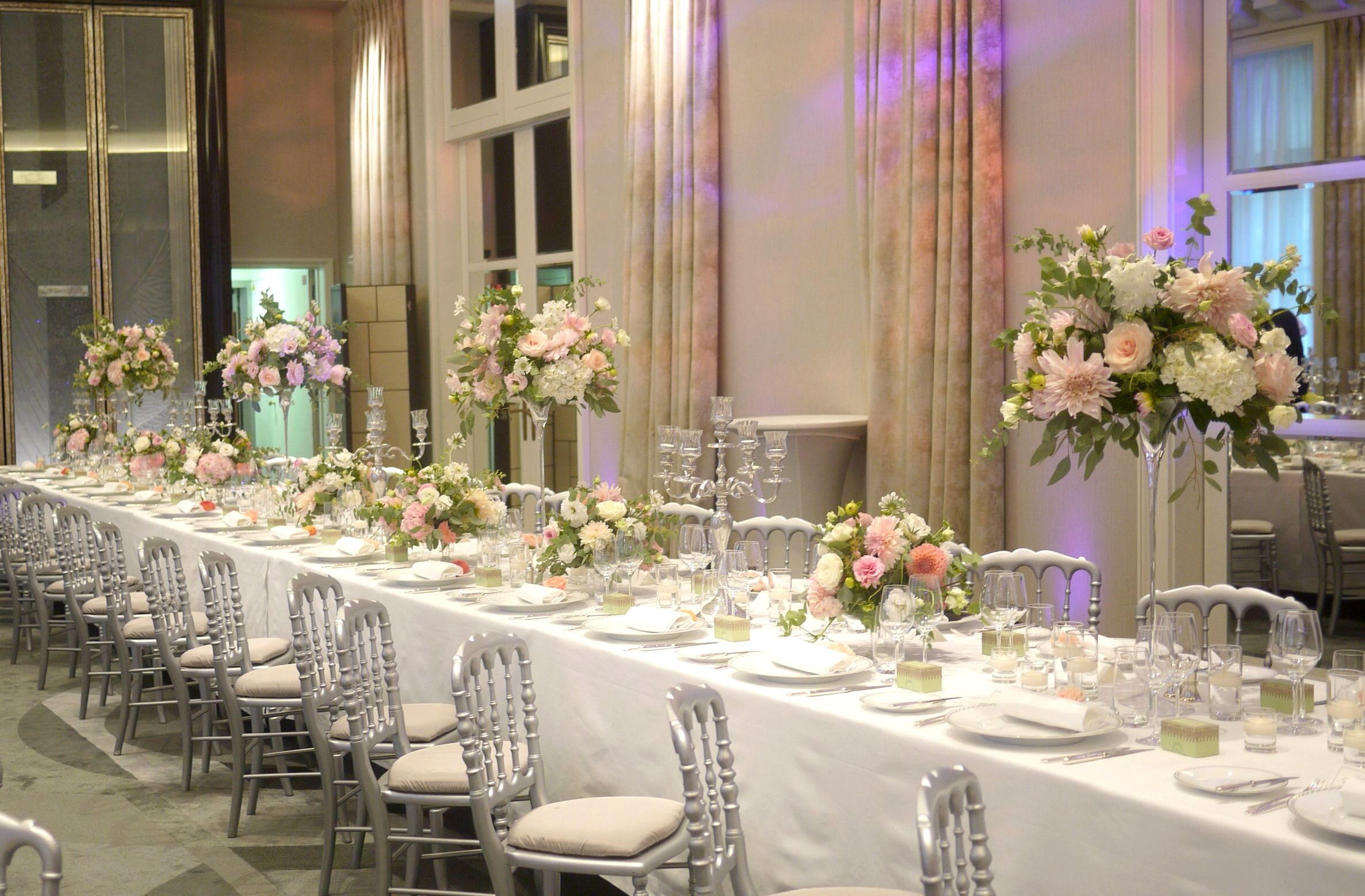centre de table mariage The Peninsula Paris