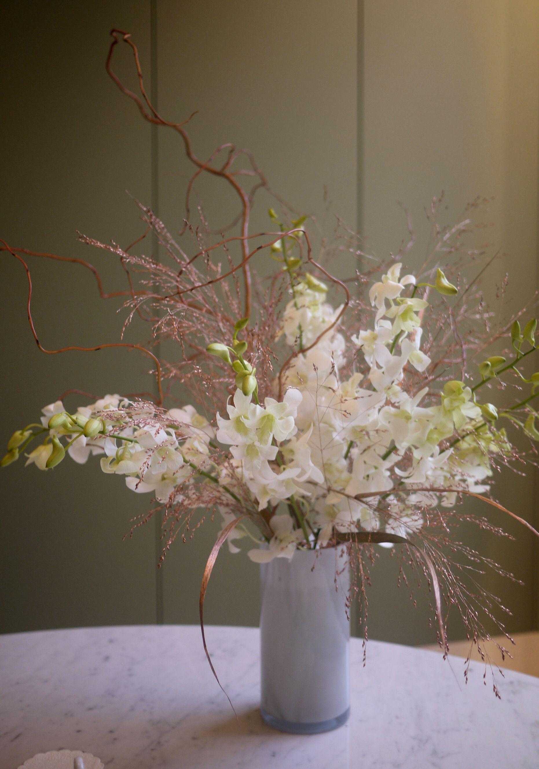 composition florale orchidées
