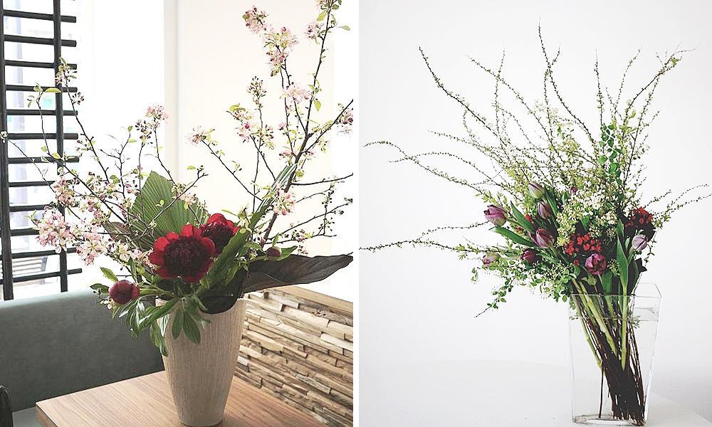 bouquet chic avec tulips
