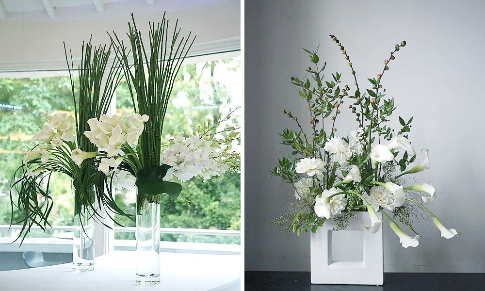 composition florale style japonais